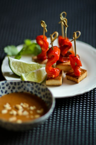 Thai inspired tofu satay