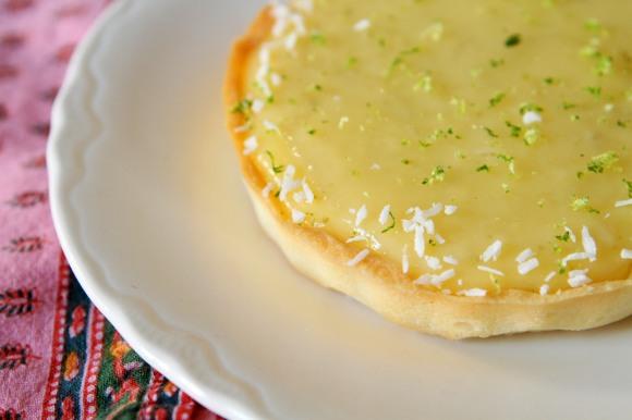 Lemon and Coconut Tarlet